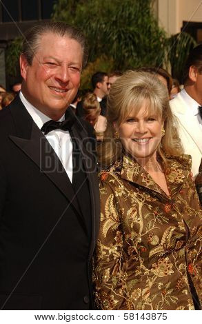 Al Gore and Tipper Gore  arriving at the 59th Annual Primetime Emmy Awards. The Shrine Auditorium, Los Angeles, CA. 09-16-07