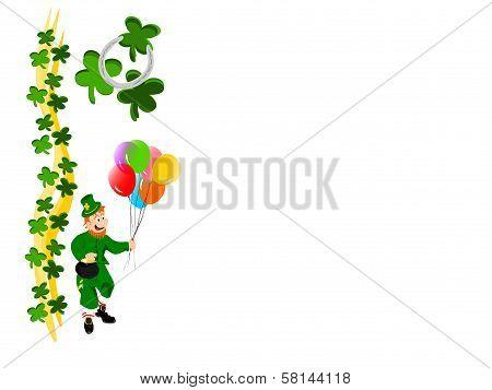 leprechaun balloons ribbon clover