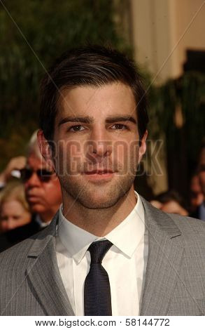 Zachary Quinto arriving at the 59th Annual Primetime Emmy Awards. The Shrine Auditorium, Los Angeles, CA. 09-16-07