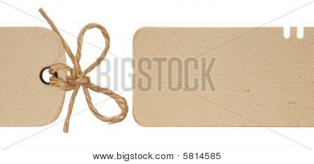 Panoramic Paper Tag with string bow