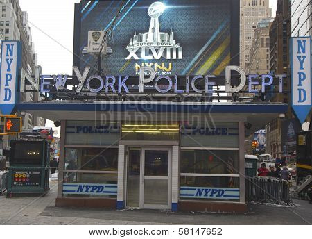 Famous NYPD Times Square Precinct in Midtown Manhattan
