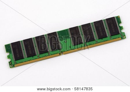 Memory module on white background