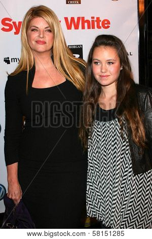 Kirstie Alley and daughter Lillie at the Los Angeles premiere of