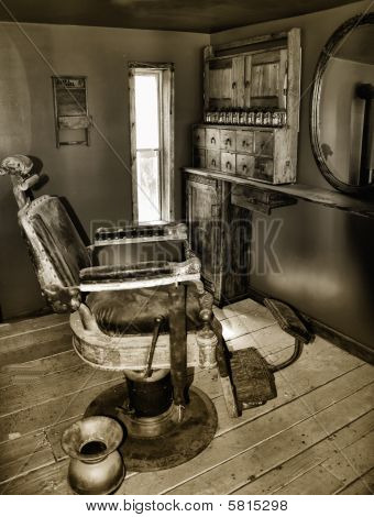 Barber Chair And Spittoon