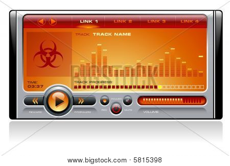 Media Player Orange
