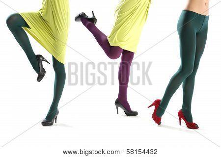 Funny female leg
