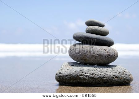 Zen de la orilla del mar