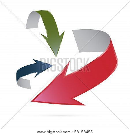 Vector Arrows Isolated On White Background