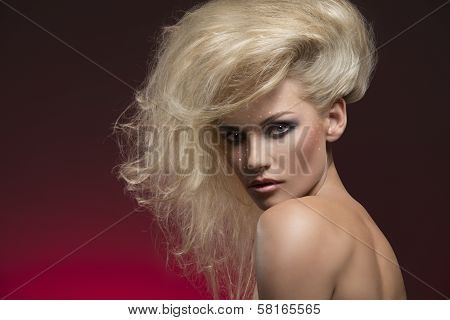Woman With Charming Hair-style