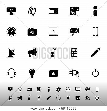 Electronic Icon On White Background
