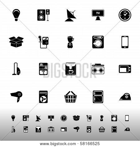 Home Related Icons On White Background