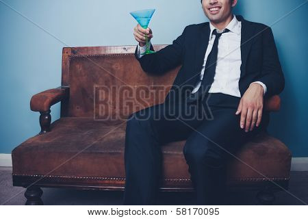 Happy Businessman Toasting