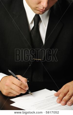 Businessman The Signing Contract