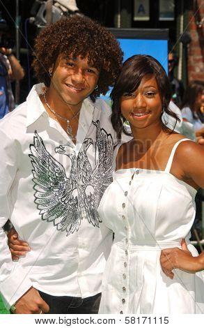 Corbin Bleu and Monique Coleman at the Los Angeles Premiere of