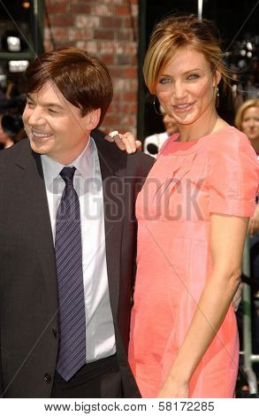 Mike Myers and Cameron Diaz at the Los Angeles Premiere of