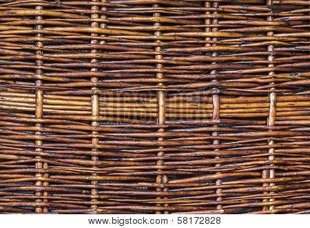 Wooden Woven Wicker Texture