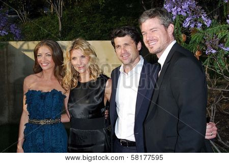 Rebecca Gayheart and Jill Fink with Patrick Dempsey and Eric Dane at The Sixth Annual Chrysalis Butterfly Ball. The Home of Susan Harris and Hayward Kaiser, Mandeville Canyon, CA. 06-02-07
