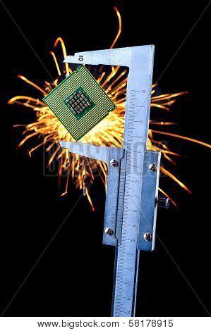 microprocessor in a caliper