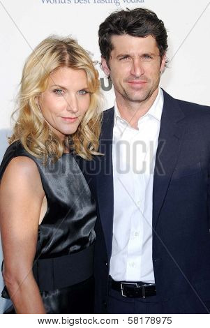 Jill Fink and Patrick Dempsey at The Sixth Annual Chrysalis Butterfly Ball. The Home of Susan Harris and Hayward Kaiser, Mandeville Canyon, CA. 06-02-07