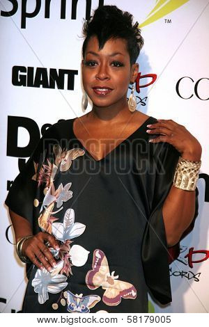 Tichina Arnold at the party celebrating the release of Rihanna's New Album