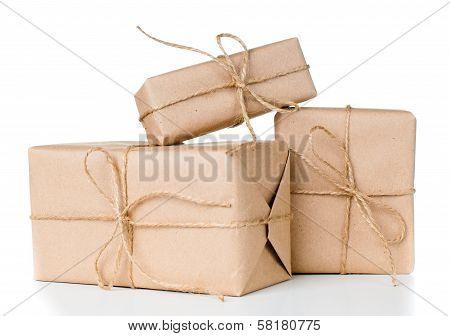 Several Gift Boxes, Postal Parcels