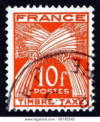 Postage Stamp France 1947 Sheaves Of Wheat