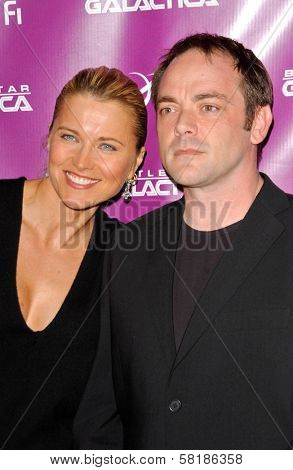 Lucy Lawless and Mark Sheppard at