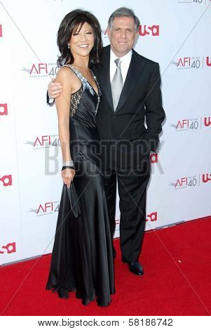 Julie Chen and Les Moonves at the 35th Annual AFI Life Achievement Award celebration honoring Al Pacino. Kodak Theatre, Hollywood, CA. 06-07-07