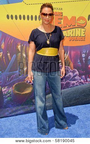Leah Remini at the Opening of Disneyland's