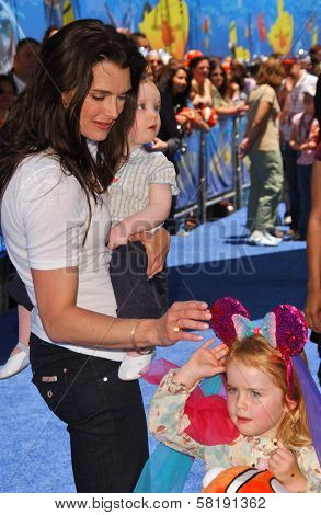 Brooke Shields with daughters Grier and Rowan at the Opening of Disneyland's
