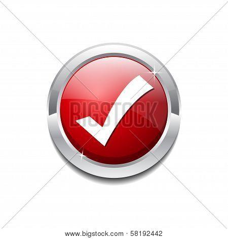 Tick Mark Vector Icon Button