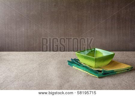 Bowl Napkin Grunge Background