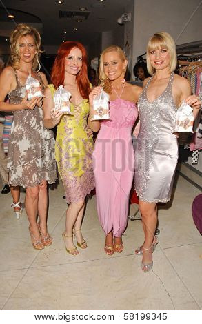 Anita Seelig and Phoebe Price with Katie Lohmann and Rena Riffel at the launch of Phoebe's Phantasy by Lotion Glow. Kaje Boutique, Beverly Hills, CA. 06-16-07