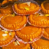 pic of gulab  - India tasty fresh sweets background taken in the market