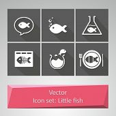 Vectoral icon set: Little fish