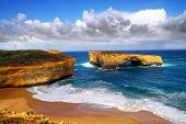 image of 12 apostles  - london bridge closeup in great ocean road - JPG