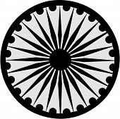 pic of ashoka  - The buhhist symbol of the Ashoka Chakra - JPG