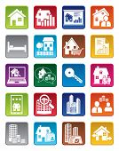 pic of rental agreement  - Real estate icons in various colors - JPG