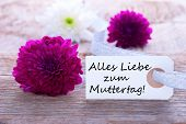 Label With Alles Liebe Zum Muttertag