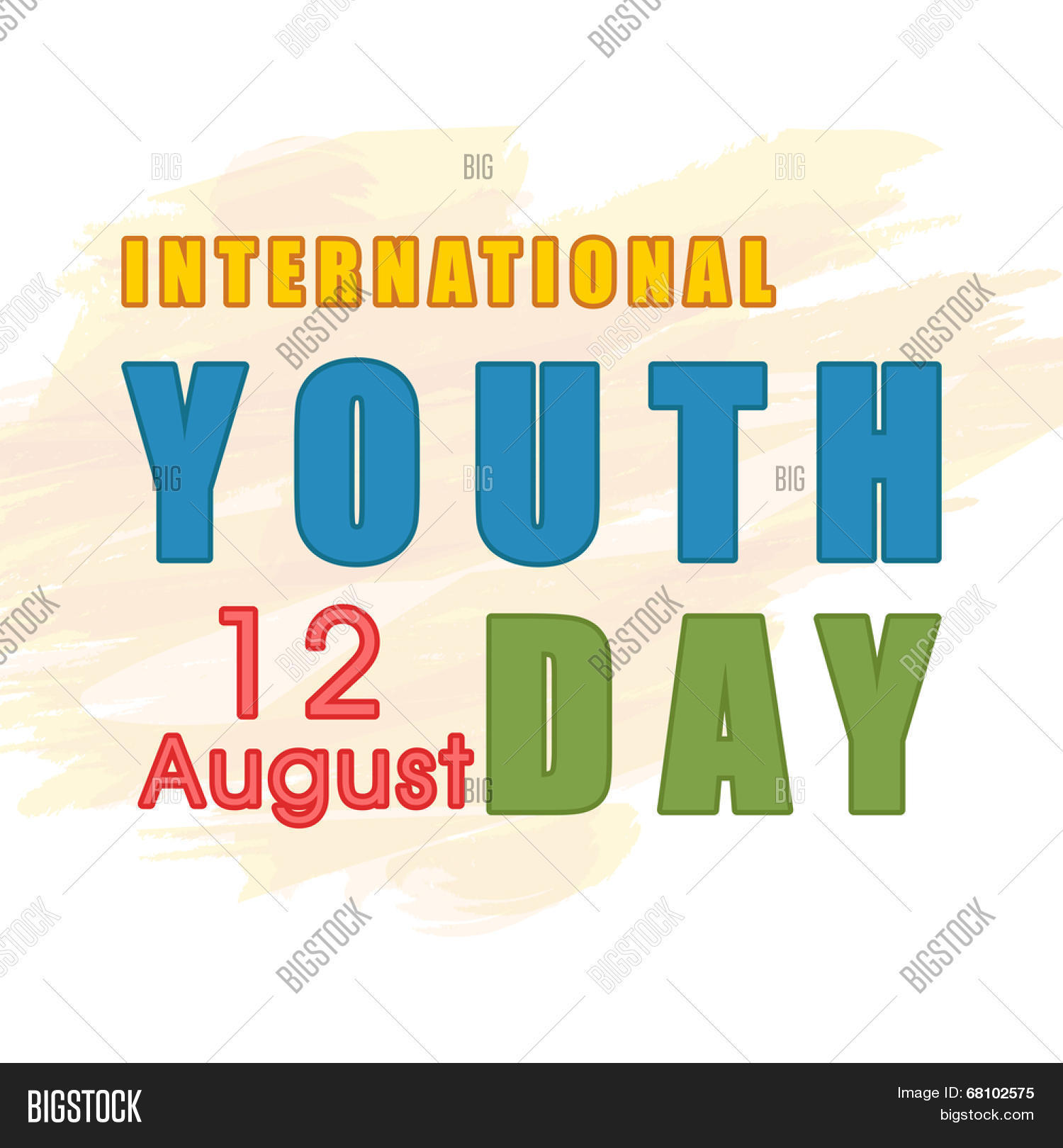 Poster design for youth - Stylish Poster Banner Or Flyer Design With Colorful Text International Youth Day On 12 August