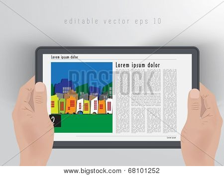 Design layout for presentation or e-book. Editable vector
