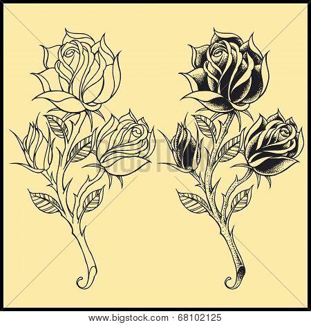Roses Oldskool style elements