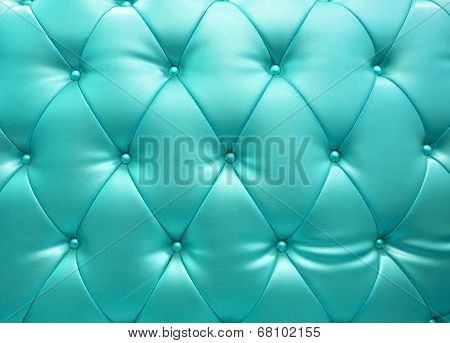 Light Blue Upholstery Leather As Texture And Pattern
