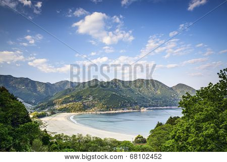 Atashika Beach in Kumano City, Mie Prefecture, Japan.