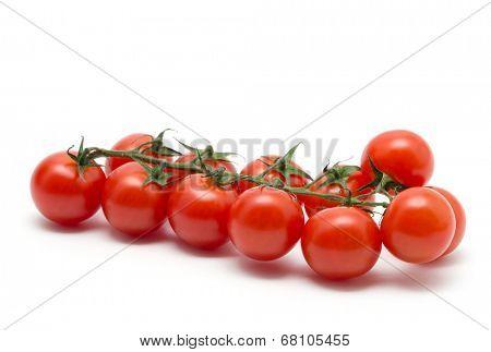 Cherry tomatoes on white