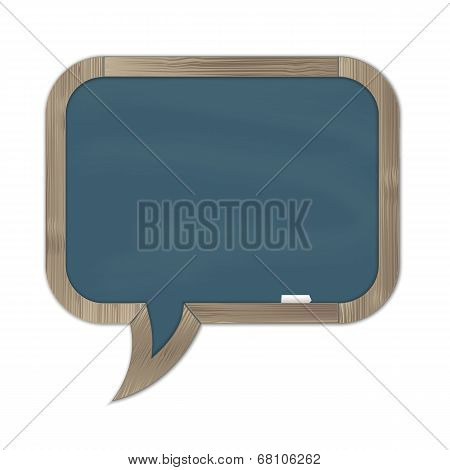 Grey Rounded Chalkboard