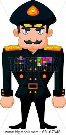 Cartoon military general