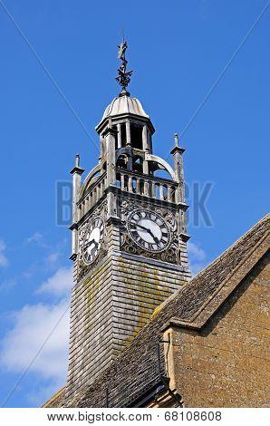 Clock tower, Moreton-in-Marsh.