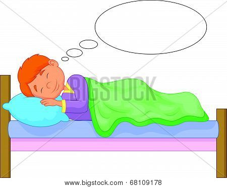 Cartoon boy sleeping