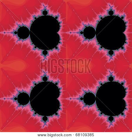 Decorative pattern with fractal Mandelbrot